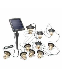 LED Solar Lichterkette Asia Style 102152 - 5,6m - Leuchtzeit 8h - schwarz - produkt