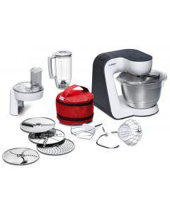 Bosch MUM50E32DE StartLine - Küchenmaschine - weiß-schwarz - 800 Watt