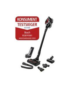Bosch BSS81POW1 Unlimited Serie 8 - Akkuhandstaubsauger 2-in-1 - schwarz-rot - Konsument Testsieger