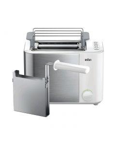 Braun HT5015WH - Toaster - mit geschlossener Sandwichzange - weiß 1