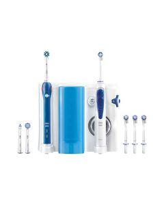 Braun Oral-B Center OxyJet + Oral-B PRO 2000 - Zahnbürste + Munddusche - blau-weiß - produkt