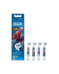 Braun Oral-B EB Spiderman 4er - Ersatz-Zahnbürsten - rot-weiß - produkt