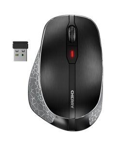 Cherry MW 4500 - wireless Maus für Linkshänder - ergonomisch - schwarz