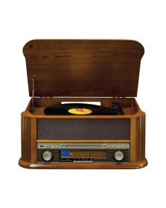 Classic Phono TCD2550 braun - Stereo-Anlage mit Platten- und Kassettenspieler in Holzkofferoptik - USB - produkt