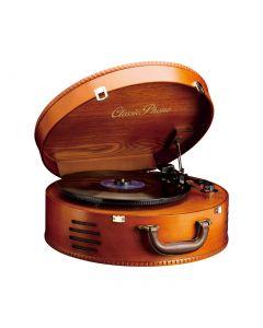 Classic Phono TT34 braun - Plattenspieler im Holzgehäuse - USB - produkt