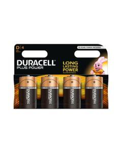 Duracell Plus(Power) D (MN1300/LR20) K4 - Mono Batterien Blister - 4er Pack