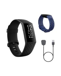 fitbit Charge 4 Peak Holiday Bundle - Aktivitätsuhr - Smartwatch - schwarz-navy blau - produkt