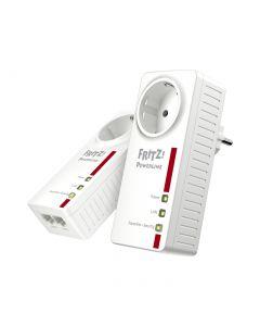 FRITZ!Powerline 1220E Set - Netzwerkerweiterung über Stromnetz - weiß-rot - produkt