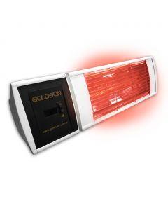 GOLDSUN SUPRA Smooth Plus 2,0 WE - Infrarot Heizstrahler 2 kW - weiß - Fernbedienung