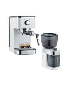 Graef ES401 Salita Set - Siebträgermaschine & CM201 Kaffeemühle im Set - weiß
