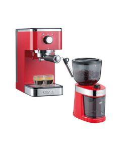 Graef ES403 Salita Set - Siebträgermaschine & CM203 Kaffeemühle im Set - rot