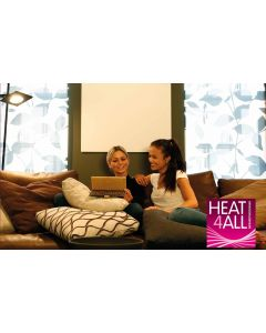 Heat4All Infrarotheizung ICONIC CLASSIC 870 - 730 Watt - Infrarot Heizpaneel - pulverbeschichtet - weiß