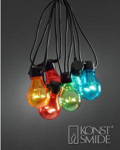 Konstsmide LED Biergartenkette bunt 2378-500 mit 10 Birnen - produkt