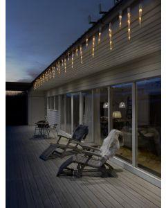 Konstsmide 2770-802 LED Eisregen Lichtervorhang mit 32 Zapfen - 96 warmweiße Dioden - transparent - produkt