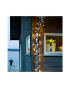 Konstsmide Maxi LED Lichterketten-Set 15,1m - 50 warmweiße Dioden - schwarz - produkt