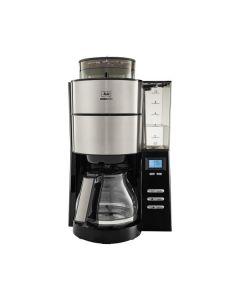 Melitta AromaFresh Glas - Kaffeemaschine mit integriertem Mahlwerk- schwarz-edelstahl