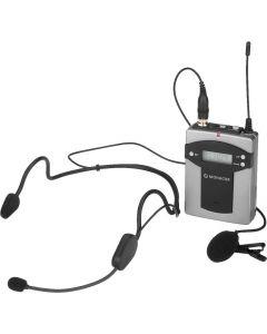 Monacor TXA-800HSE - Multi-Frequenz-Taschensender - schwarz silber - produkt