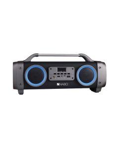 Nabo BB 200 - Bluetooth Speaker - Boombox Optik - schwarz - Frontansicht