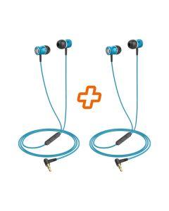 Nabo IN EAR 2 1+1 gratis - In-Ear Kopfhörer mit Freisprechfunktion, 2er Pack - blau - produkt