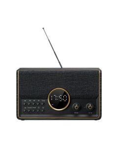 Nabo WR 200 - Retro-Tischradio - schwarz-gold - vorne