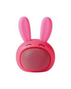 Nedis Animaticks Bluetooth-Speaker Robby Rabbit - Bluetooth-Speaker - Hase pink - vorne