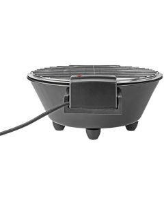 Nedis BBQE112BK - elektrischer Grill rund - schwarz