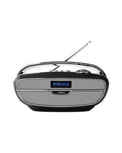 Nedis RDDB5310BK - tragbares Retro-Radio - schwarz-silber - produkt