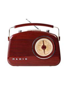 Nedis RDFM5000BN - tragbares Retro-Radio - braun - produkt