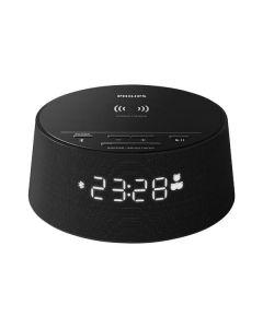 Philips TAPR702 12 - Musikwecker mit Bluetooth, USB- & Qi-Ladefunktion - schwarz