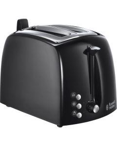 Russell Hobbs Textures Plus 22601-56 - Zweischlitz-Toaster - schwarz