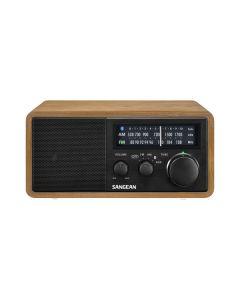 Sangean Genuine 110 Plus WR11BT - tragbares Retro-Tischradio mit Bluetooth - holz-braun schwarz - produkt