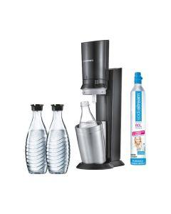 SodaStream Crystal 2.0 - Wassersprudler Vorteilspack - inkl. 3 Glaskaraffen & 1 Zylinder - titan - Hauptfoto