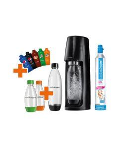 SodaStream Easy Vorteilspack Pepsi Edition - Wassersprudler inkl. 4 Flaschen - schwarz