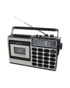 Soundmaster RR18SW - tragbares Retro-Kassetten-Radio - schwarz-silber - produkt