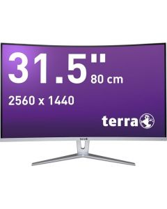 TERRA LED 3280W  - 31,5 LED Monitor - CURVED DP HDMI - silver white - produkt