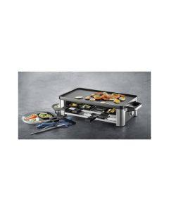 WMF Lono - Raclette-Grill - für 8 Personen - edelstahl - Ansicht mit Speisen